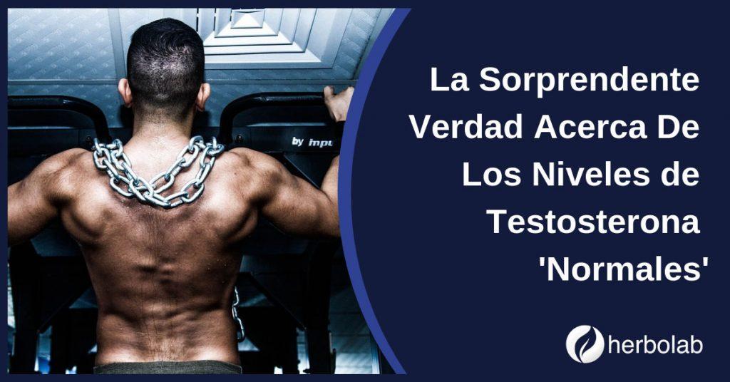 La Sorprendente Verdad Acerca De Los Niveles de Testosterona 'Normales'