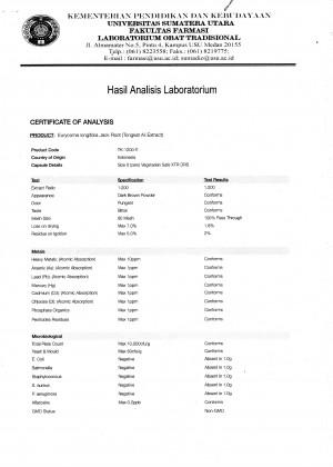 Herbolab COA 1