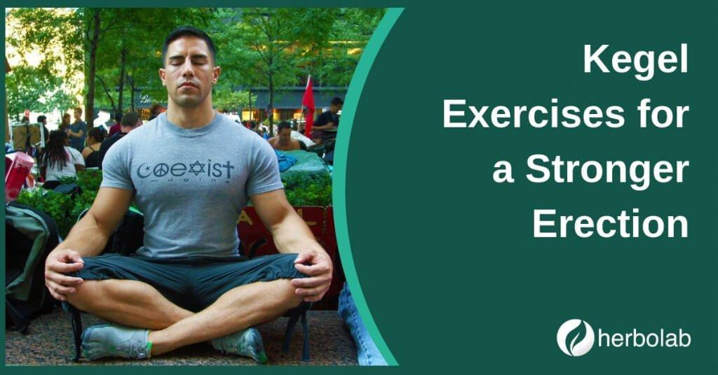 Kegel exercise for strong erection